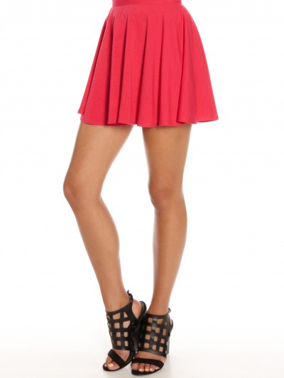 Lori Jersey Skater Skirt in Pink - Glue Store