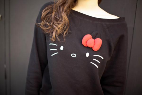 skirt tumblr tumblr hello kitty sweater
