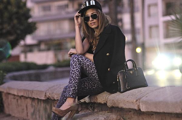 the art sartorialist jeans sweater sunglasses bag belt coat shoes