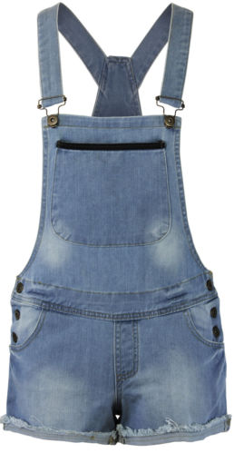 WOMENS DENIM SHORTS/CAMOUFLAGE PRINT LADIES SHORT DUNGAREE PINAFORE DRESS | eBay