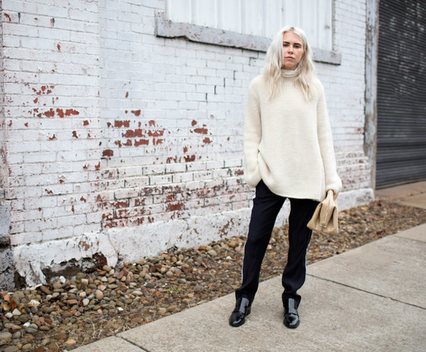 always judging blogger pants oversized sweater sweater shoes bag