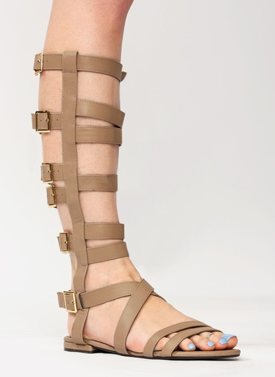 Fully-Strapped-Gladiator-Sandals BEIGE BLACK GOLD SILVER TAN - GoJane.com