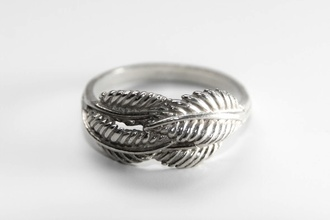 jewels ring feathers plume light sweet cute ring