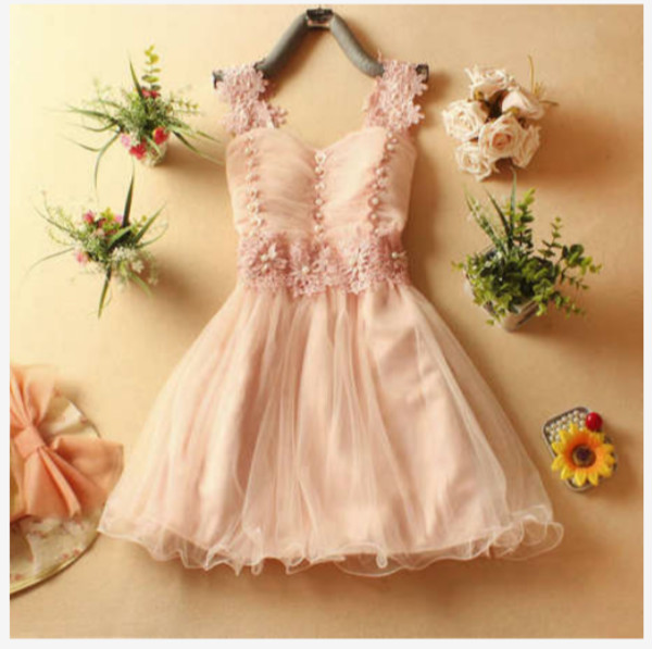 dress pink pink dress flowers cute dress