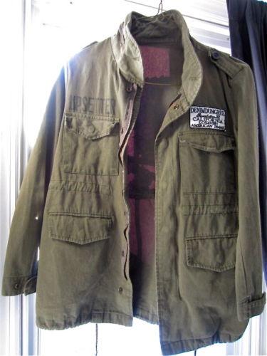 S M Vintage Olive Green Camo Floral Skull Boho Hippie Military Army Parka Jacket | eBay