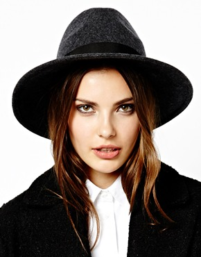 French Connection | French Connection Lisa Greywool Felt Fedora Hat at ASOS