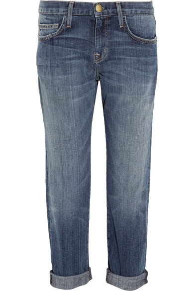 Current/Elliott|The Boyfriend cropped straight-leg jeans|NET-A-PORTER.COM