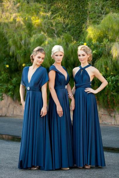 dress long dress v neck dress