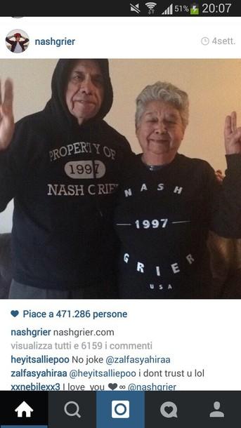 nash grier black sweater mens hoodie sweater