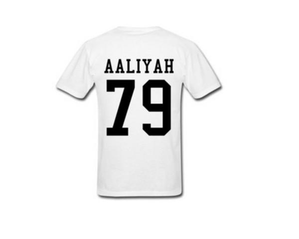 shirt white t-shirt aaliyah