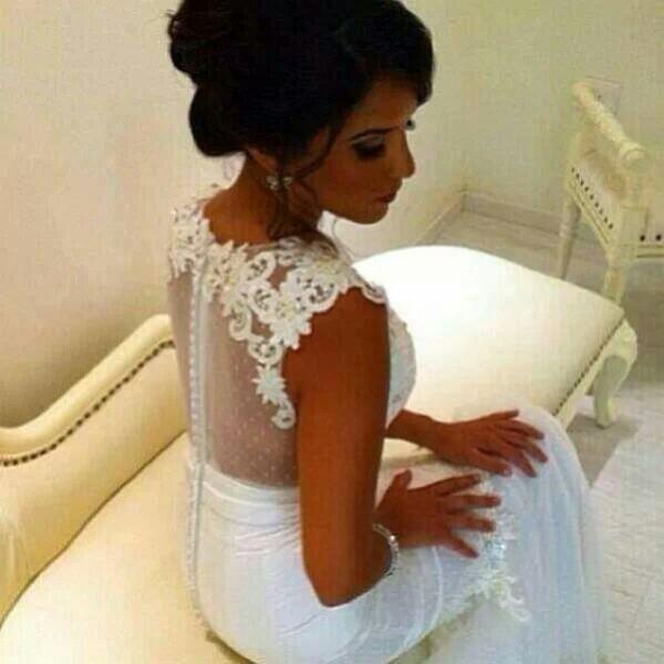 dress white wedding dress dentelle