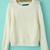White Raglan Sleeve Round Neck Crop Sweater - Sheinside.com