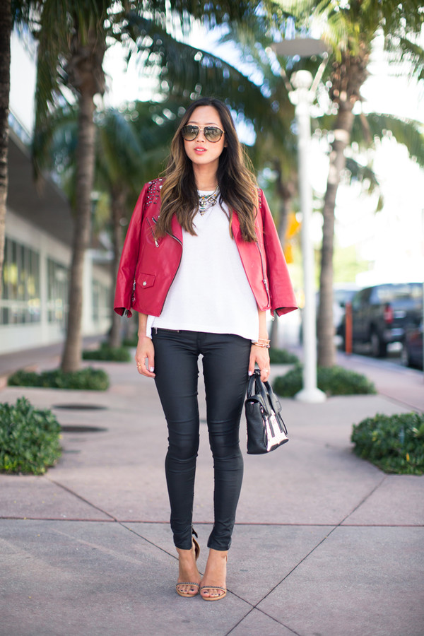 song of style jacket t-shirt jeans shoes jewels bag
