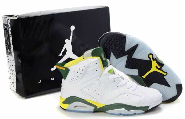 shoes jordans white green yellow