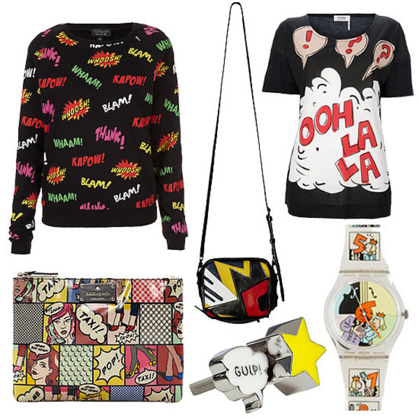 sweater marvel nerd comics pop art bag