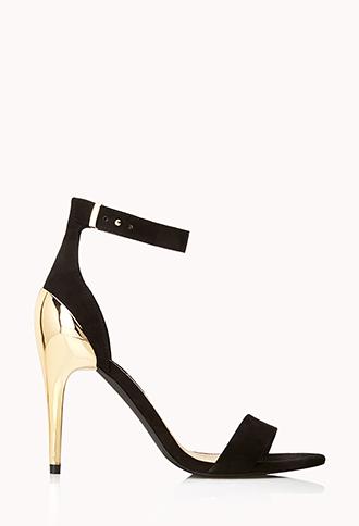 Metal Heel Sandals | FOREVER21 - 2000066149