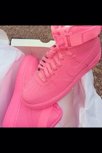 shoes nike air force 1 vibrant style classic nike sneakers nike running shoes pink dress pink sneakers sportswear