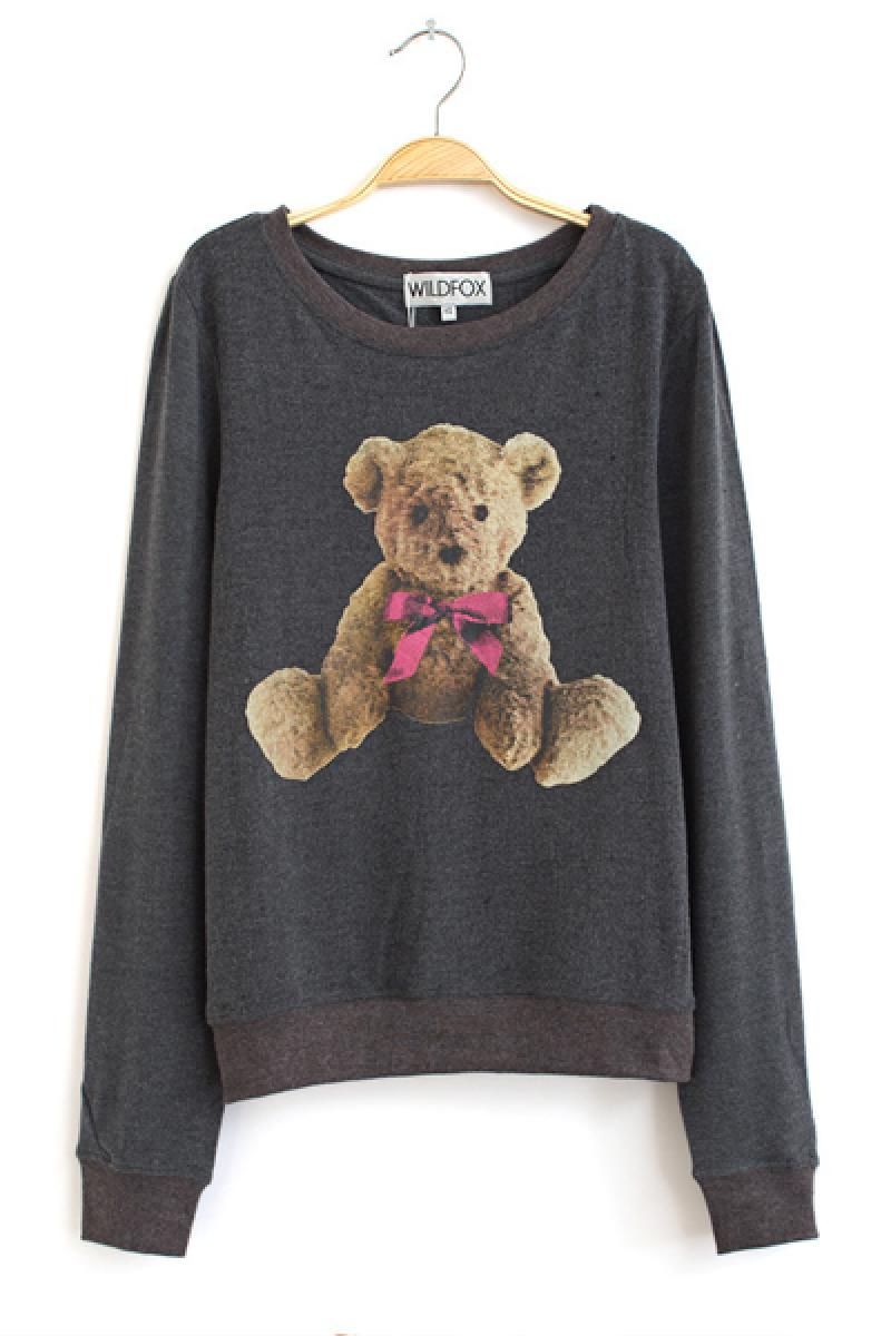 2013 New Ladies Bear Pattern Casual Long Sleeve Sweater,Cheap in Wendybox.com