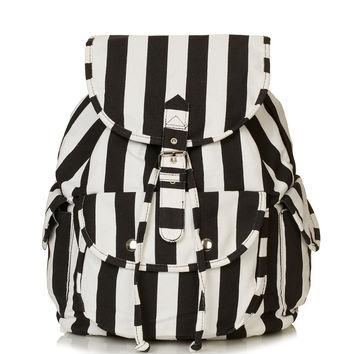 Stripe Denim Backpack - Bags & Purses - Bags & Accessories - Topshop on Wanelo