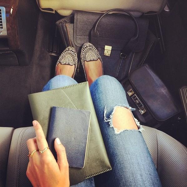 shoes handbag stylish car holidays roadtrip jeans bag