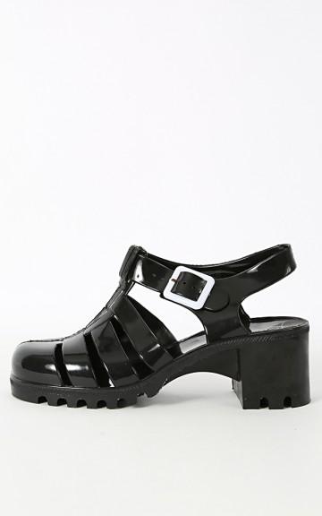 Jackie-1 Caged Gladiator Jelly Sandals   MakeMeChic.com
