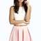 Maria new season box pleat skater skirt