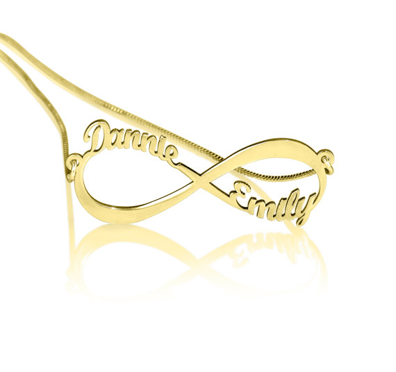 laser cut 14k gold plated Infinity Necklace by KHandmadeCreations