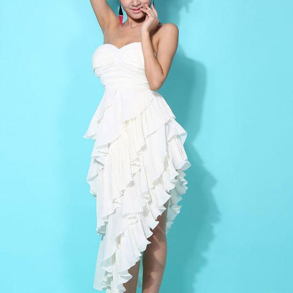 [grhmf260002069]Sexy European Style Cropped Ruffled Tiers Strapless Dress por Thevintagestudio.bigcartel.com - Shopcliq