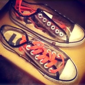 Clear Transparent Converse Style Levi's Tennis Shoes Size 7   eBay
