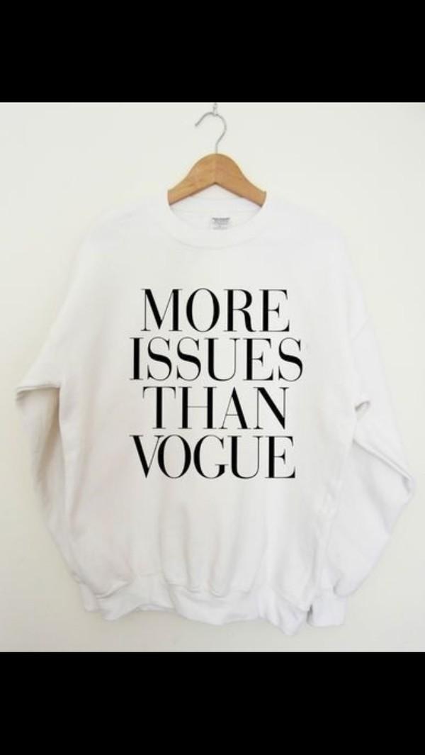 sweater white white sweater vogue cute black writing writing designer sassy sweater