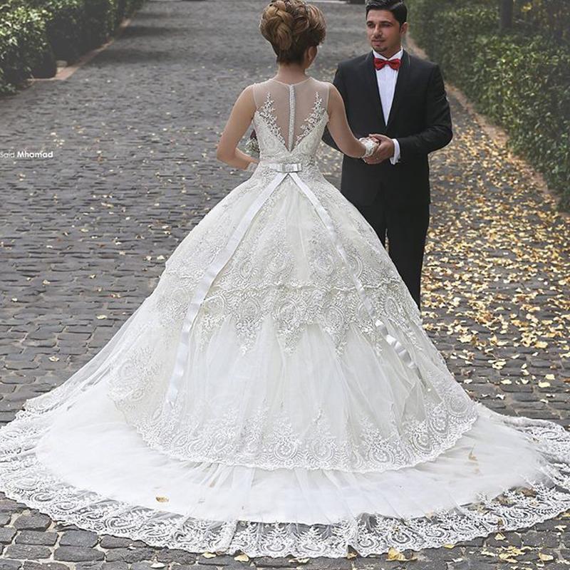 Victorian Puffy Arabic Wedding Dresses 2016 Cheap Ball