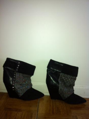 Bottines, low boots à compensés kate ISABEL MARANT 38 noir occasion - 1953372