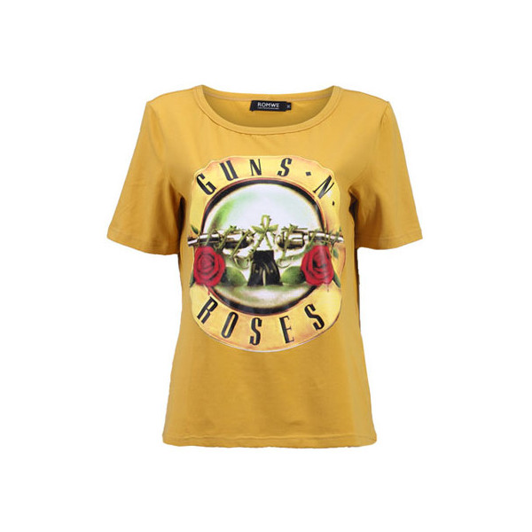 Guns N Roses Yellow T-shirt - Polyvore