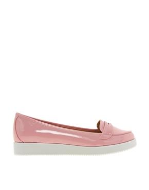 Pink   Timeless Oscar Soft Pink Patent Flat Shoes at ASOS