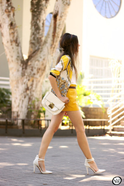 fashion coolture blogger coat skirt jewels sunglasses bag shoes