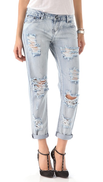One Teaspoon Awesome Distressed Jeans   SHOPBOP