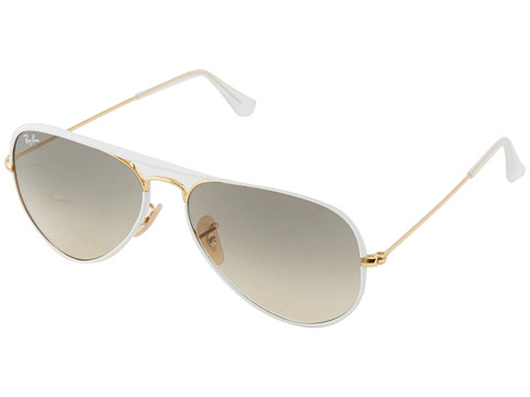 Ray-Ban 0RB3025 Aviator size 58 White - Zappos.com Free Shipping BOTH Ways