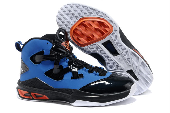 Mens Game Royal/White - Black/Team Orange Jordans Melo M9 Nike Basketball Shoes