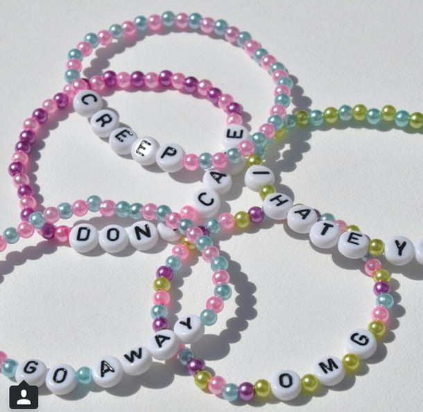 jewels beaded letter braclet