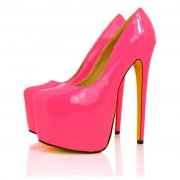 Pink Neon Patent Court Shoes | Buy Pink Neon Patent Court Shoes Online