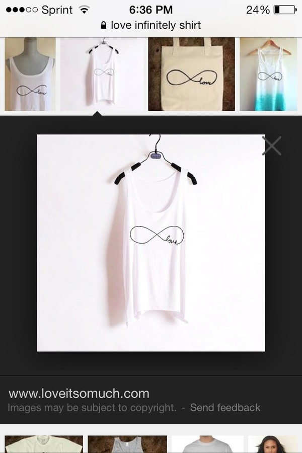 shirt infinity love tank top