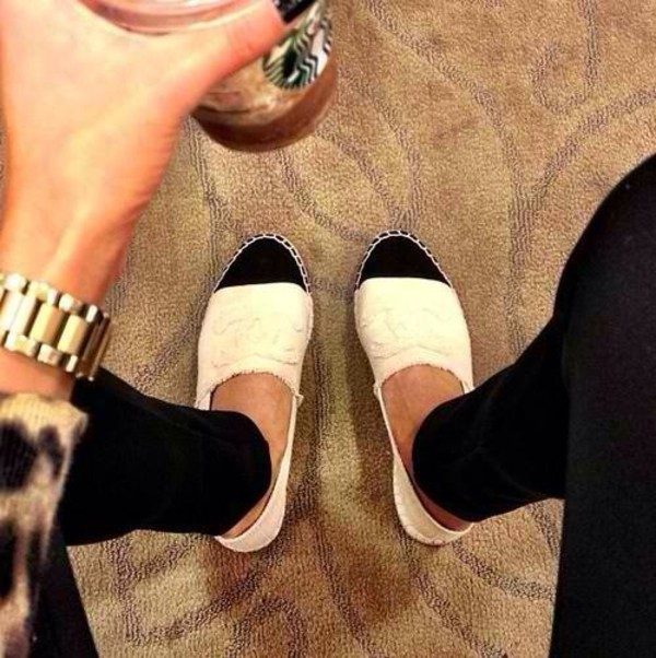 shoes white black chanel inspired