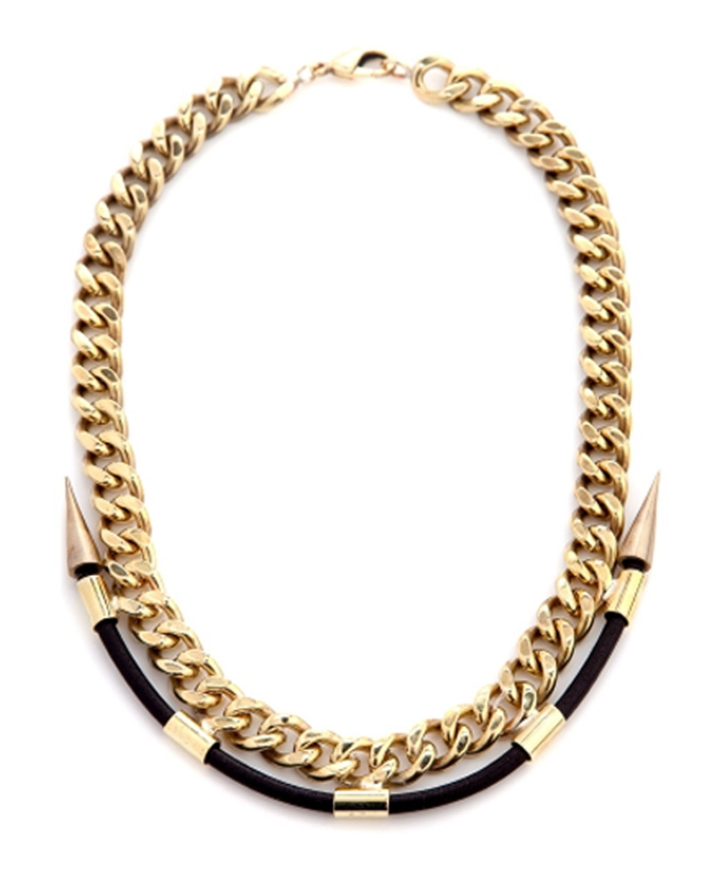CLASSIQUE GOLD LABYRINTH NECKLACE from Fallon
