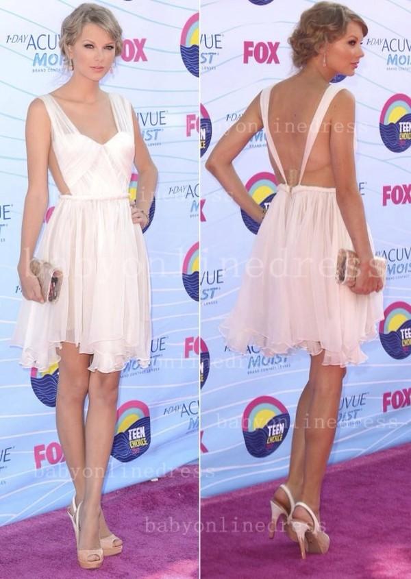 dress nude dress taylor swift backless dress