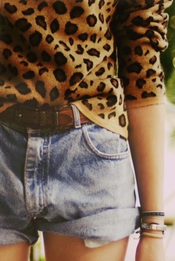 shirt leopard shirt leopard print leopard print sweater top pants belt dark brown love yolo sexy light brown hipster shorts blouse outfit