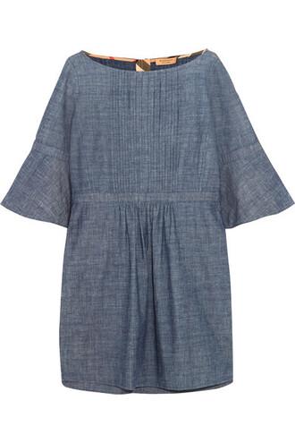 dress mini dress denim mini cotton