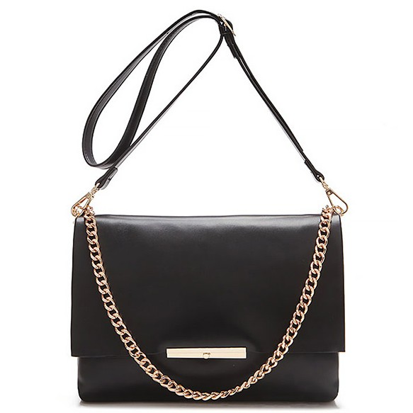 Large Envelope Clutch With Gold Chain at Style Moi
