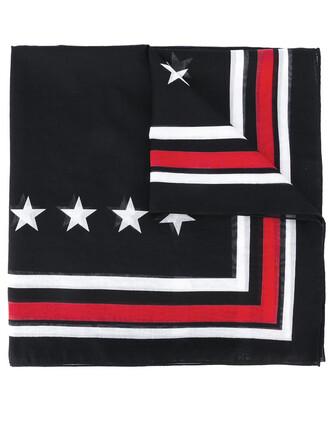 women scarf cotton print black silk