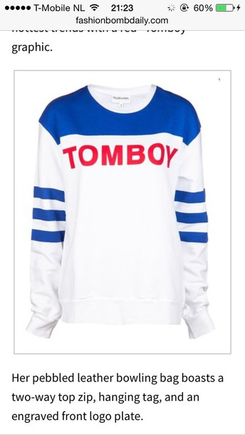 sweater tomboy sweater