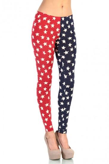 LoveMelrose.com From Harry & Molly | American Flag Star Leggings